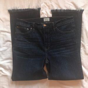 J Crew Billie Denim Boot Crop Jeans